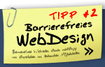 Tipp #1: Barrierefreies WebDesign
